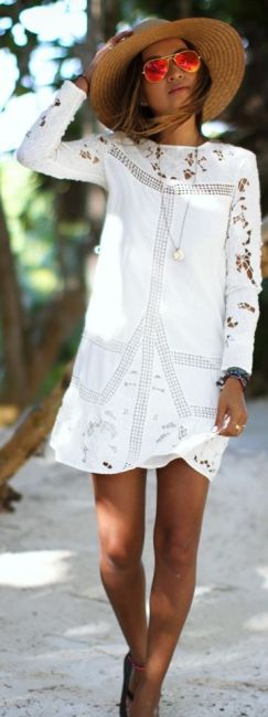 everydayfacts white summer dress