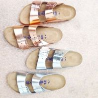 everydayfacts metallic sandals