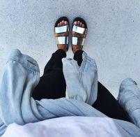 everydayfacts metallic sandals