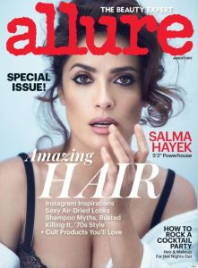 everydayfacts Salma Hayek (topless) for Allure Cover Story