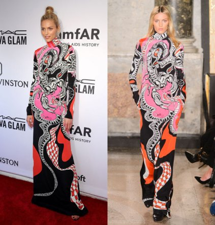 everydayfacts Anja Rubik in Emilio Pucci