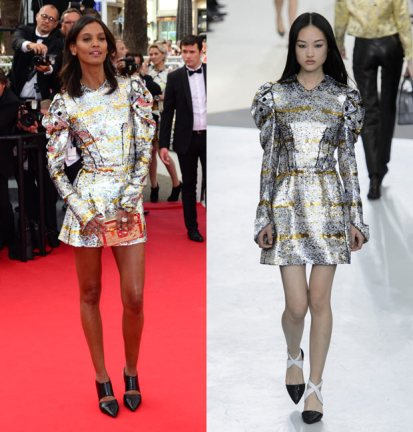 everydayfacts Liya Kebede in Louis Vuitton