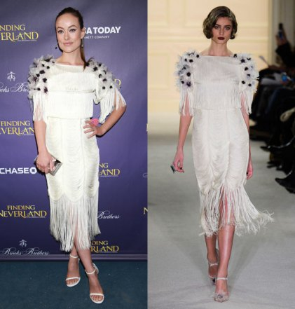everydayfacts Olivia Wilde in Marchesa