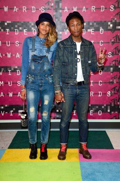 VMA 2015 Helen Lasichanh and Pharrell Williams