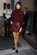 burgundy for fall alexa chung