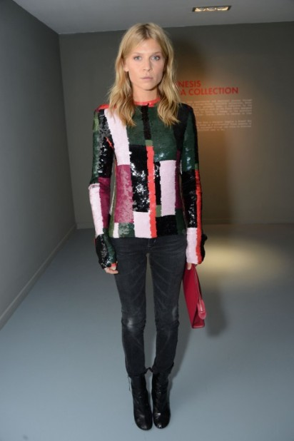 LFW Fall 2015 Clemence Poesy