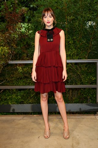 MFW 2015 celebrity Dakota Johnson