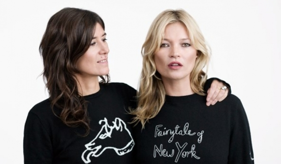 Bella Freud x Kate Moss save the children jumper