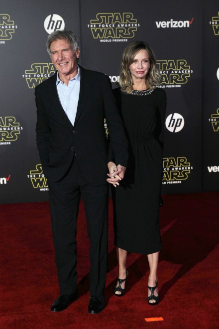 star wars london premiere harrison ford and calista flockhart