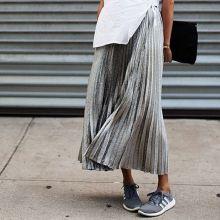 everydayfacts metallic pleated skirt
